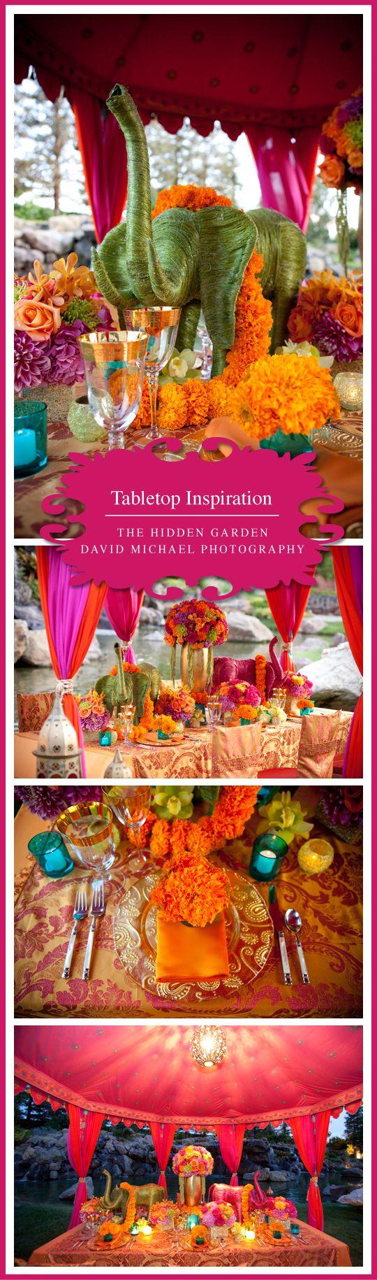 Tabletop Inspiration | Indian Elegance www.tablescapesbydesign.com https://www.facebook.com/pages/Tablescapes-By-Design/129811416695