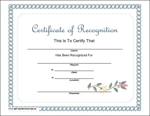 Best 25+ Certificate of recognition template ideas on Pinterest - certificate of attendance template free download