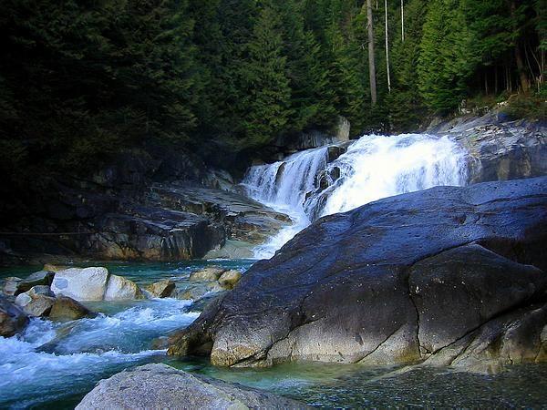 gold creek falls - near alouette lake