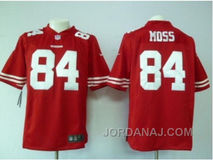 detailed look 3fab0 4bfb7 nike san francisco 49ers 84 randy moss gray shadow elite jersey