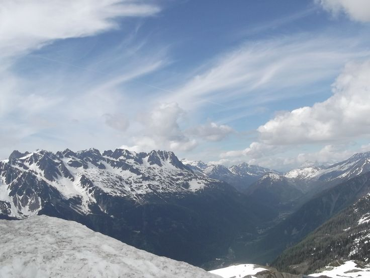 On top of the Europe. Aiguille du Midi.
