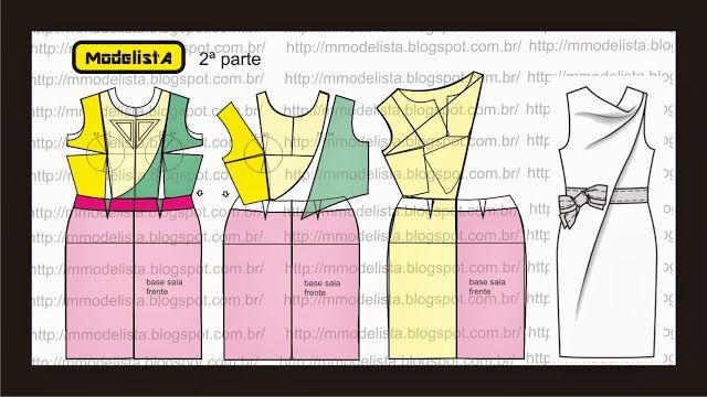 Modelagem de vestido com drapeado em cascata da marca Paule Ka. ModelistA: VESTIDO COWL 2ª part
