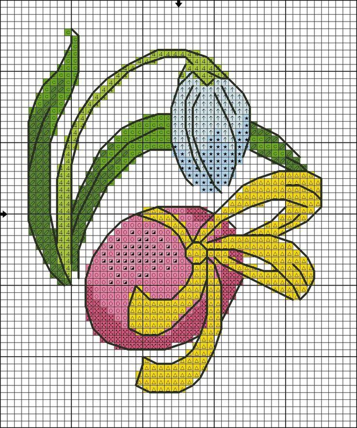 Милые пасхальные мотивы для вышивки крестом - Ярмарка Мастеров - ручная работа, handmade