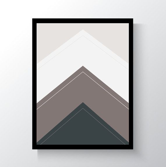 Digital Print Triangle Mountain Wall Art by DropOfSunPrints