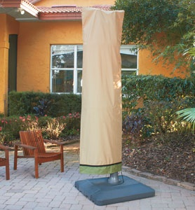 Offset Umbrella Covers; Keep your outdoor patio #umbrellas protected from the outdoor elements. No more worries of popping up that dirty umbrella while entertaining your guests or the heavy winds possibly making a tear.
