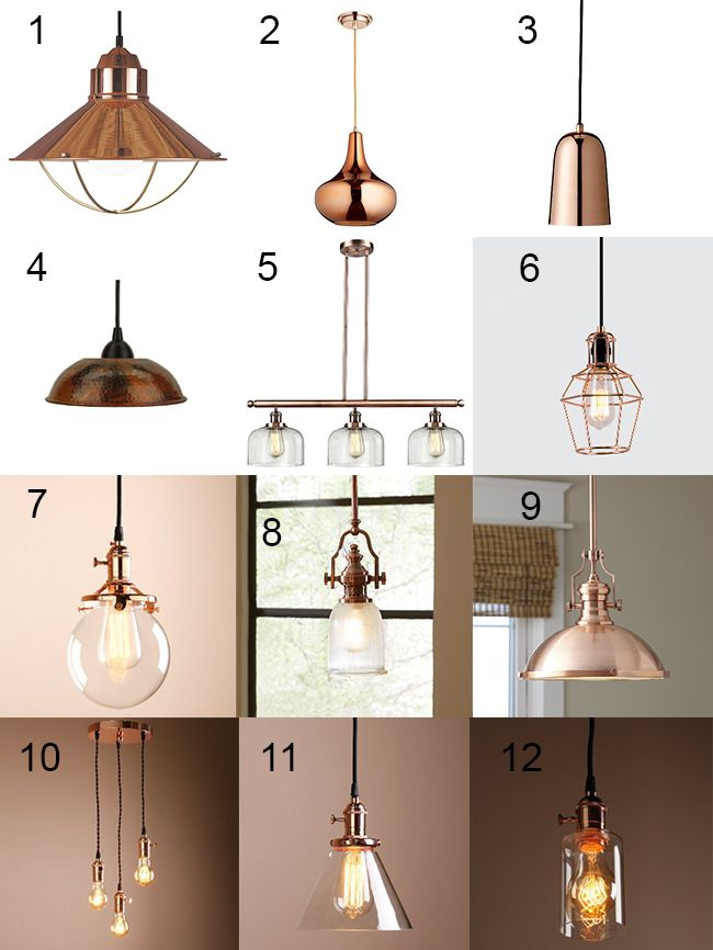hanging lighting fixtures for kitchen amish table trendy copper light | home ideas pinterest ...