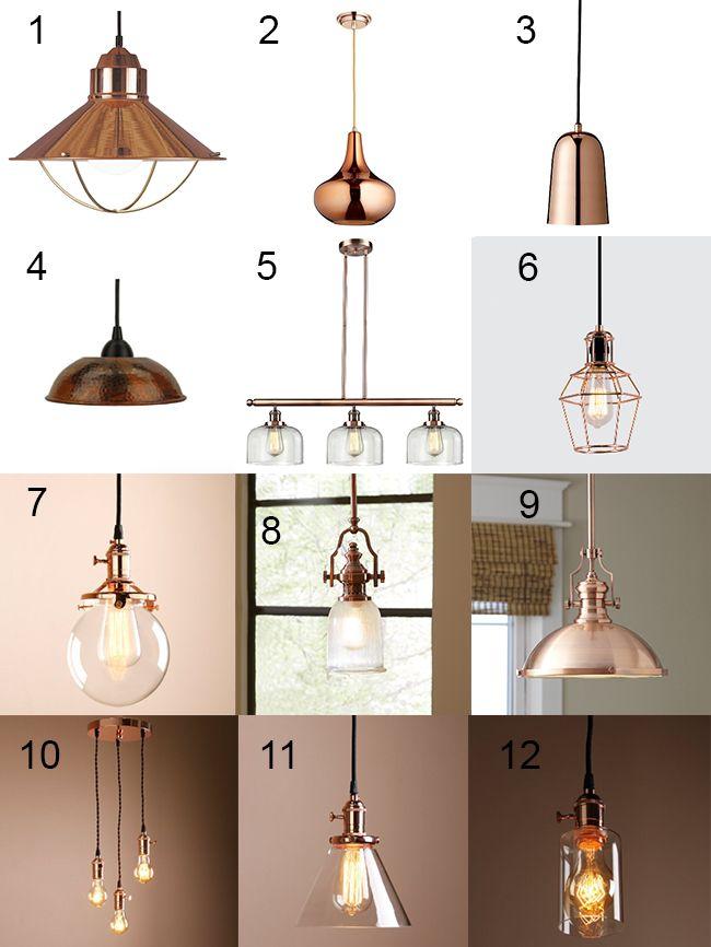 Trendy Copper Light Fixtures