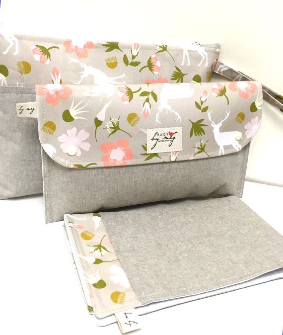 Diaper clutch nappy bag wallet with travel by naturallybymeg