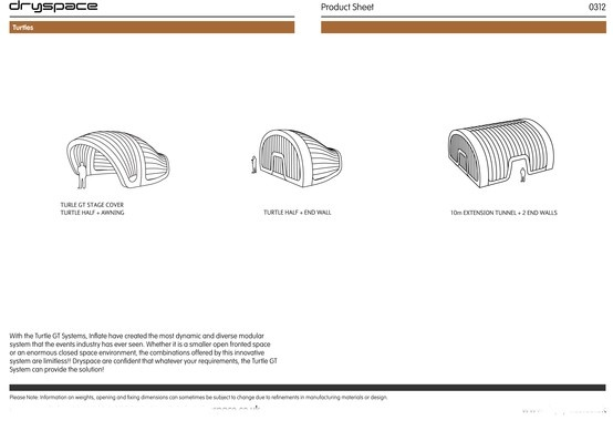 #TURTLE #GT#RANGE#TECHNICAL#SPEC #CONFIGURATIONS  #Inflatable #Temporary #Structure #Events http://www.brandinteractivation.com/