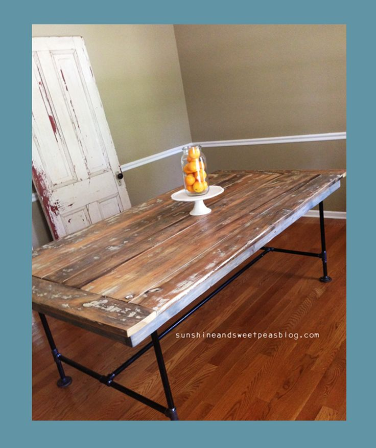 Farm tables barn wood and pipes on pinterest