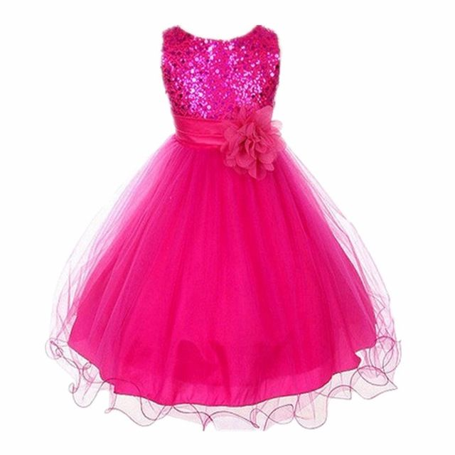 2016 vestidos para niñas boda de la flor vestidos niña 10 12 vestido elegante vestido niños vestidos de noche vestidos largos de lentejuelas de la princesa caliente