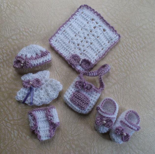 Lindos recuerdos para baby shower ó bautizo, tejidos a mano 100 ...