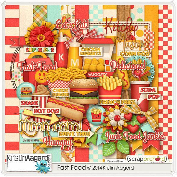 004 Digital Scrapbook Kit Fast Food Kristin Aagard 4