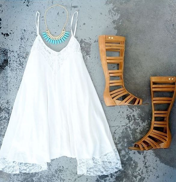 summer outfit idea. sandals just like this from colors of aurora
