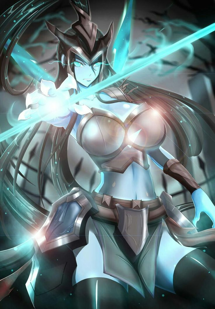 A rather ehm...curvy anime rendition of Kalista from League of Legends.