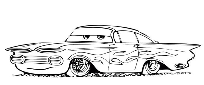 ramone cars coloring pages - photo#2