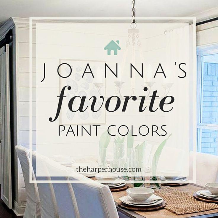 Fixer Upper Paint Colors: Joanna's 5 Favorites