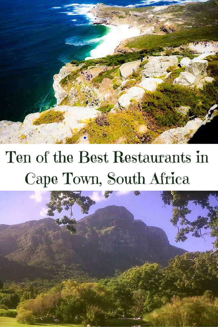 Find out all the best restaurants and other places to eat when you travel in Cape Town, South Africa!