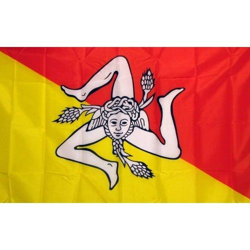 Sicily Country Traditional Flag