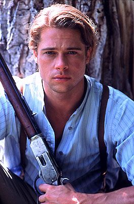 "Brad Pitt in ""Legends of the Fall""......sexiest man alive!!!!!"