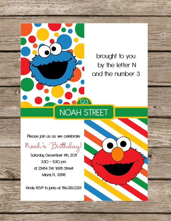 Elmo printable invitation for Elmo template for invitations