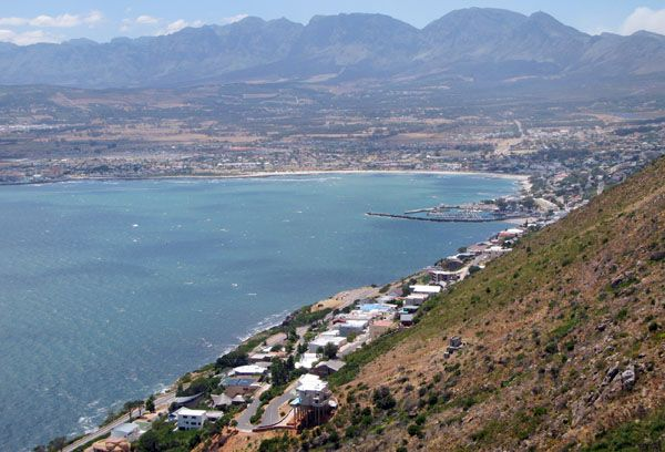 View of Gordon's Bay, South Africa and surrounds from the Steenbras road.