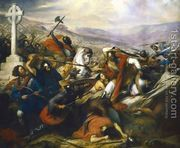 The Battle of Poitiers, 25th October 732, won by Charles Mar...  by Charles Auguste Steuben