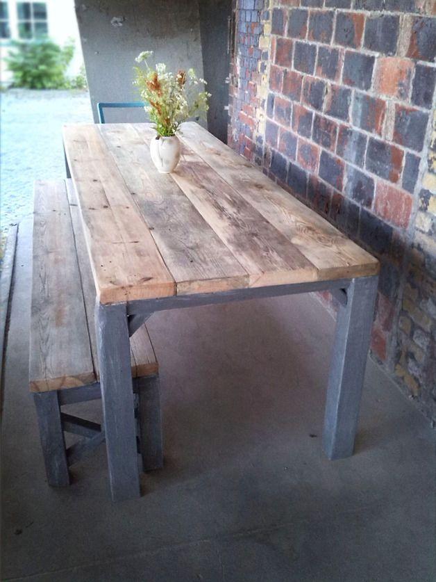 Esstische - Tisch im Landhaus-Stil aus Massivholz Julian - ein Designerstück von FraaiBerlin bei DaWanda