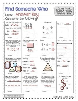 Back to School for 5th Grade Math (reviews 4th grade math standards) $  I think this will be super-fun and interactive for the first week. Plus, I can observe what students remember from last year! Love this!