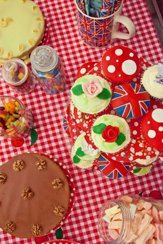 Cupcake afternoon tea. #union jack #Printable £2.50