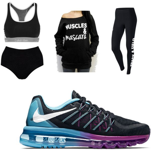 Sports by reedbethanie on Polyvore featuring polyvore, fashion, style, Calvin Klein Underwear, NIKE and Hanro