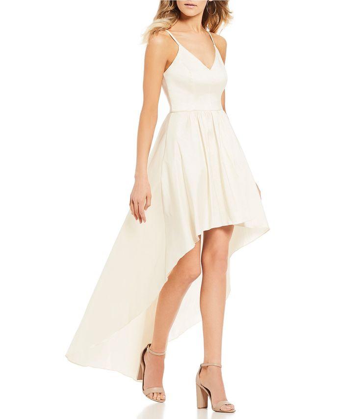 B. Darlin Spaghetti-Strap Long High-Low Dress #Dillards
