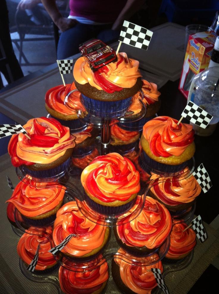 Hot wheels cupcakes!