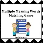 "This is a *new and improved* version of my previous ""Multiple Meaning Words Matching Game.""  It includes: - 30 multiple meaning word definitions an..."