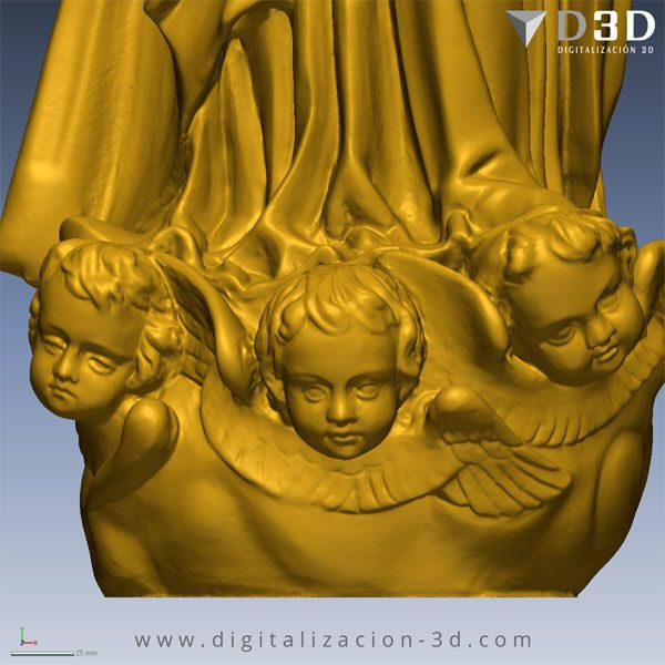 Detalle de los angelitos de la peana de la Virgen
