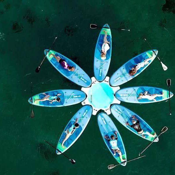 Nowe atrakcje tej zimy. Jak ocean  na chwilę się uspokoi to macie szansę na spróbowania Yoga Paddleb1h wraz z dodatkową 1h na pływanie po zatoce Las Canteras żal 30 euro  - #surfpromo #surf #surfcity #laspalmasdegrancanaria #wyjazdysurfingowe  #grancanaria #surfszkoła #surfwyjazdy