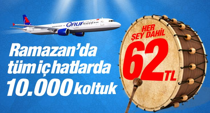 #Ucakbileti #Ucuzucakbileti #Ucakbiletleri - #Adana, #Ankara, #Antalya, #Bursa, #Havayolları, #İstanbul, #İzmir, #OnurAir, #Trabzon, #YurtiçiUçakBileti - Onur Air 'de Ramazan'da tüm iç hatlar 62 TL - http://www.ucakbiletibul.com/ucuz-ucak-bileti-fiyatlari/yurtici-ucak-bileti/antalya/onur-air-de-ramazanda-tum-ic-hatlar-62-tl.htm - Onur Air'in geleneksel Ramazan Kampanyası'na özel tüm iç hat uçuşlarında geçerli 10.000 tane koltuk her şey dahil yalnı