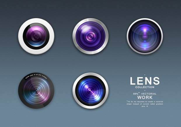 #Photo #Lens Collection, #Free, #PSD, #Resource, #Vector