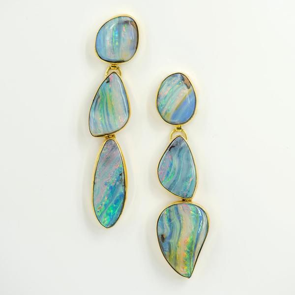 Jennifer Kalled Opal Earrings Opal Earrings Beautiful Diamond