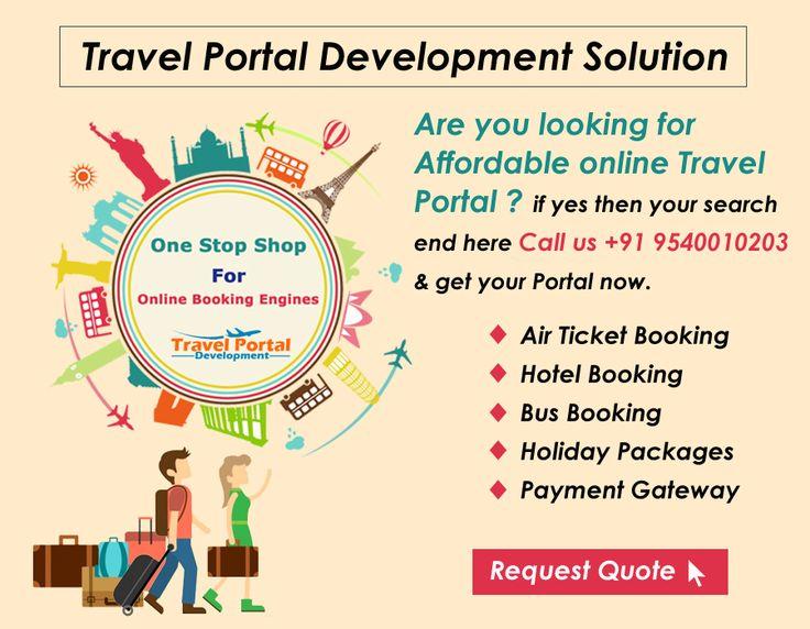 We provide the fastest travel portal development solution with travelportaldevelopment.com/