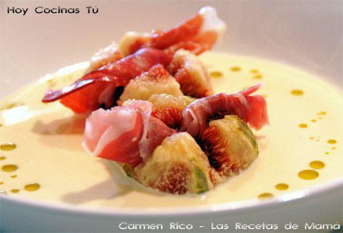 Hoy Cocinas Tú: Ajoblanco con higos y jamón