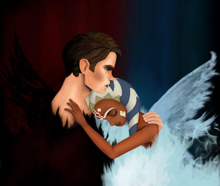 Ahsoka Tano and Anakin | Star wars love, Ahsoka, Star wars