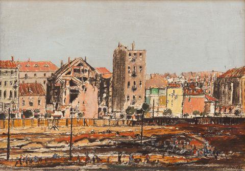 Gross František (1909–1985) | A City, the 1940s | Aukce obrazů, starožitností | Aukční dům Sýpka