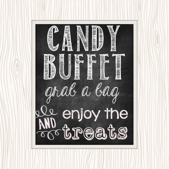 Chalkboard Candy Buffet Printable Sign By