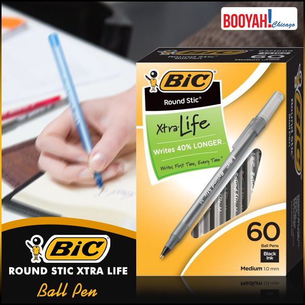 #GenuineImportedProductsDirectFromUSA Only at Booyahchicago.com BIC Round Stic Xtra Life Ball Pen : http://tinyurl.com/ybunaora #OfficeSupplies #SchoolSupplies
