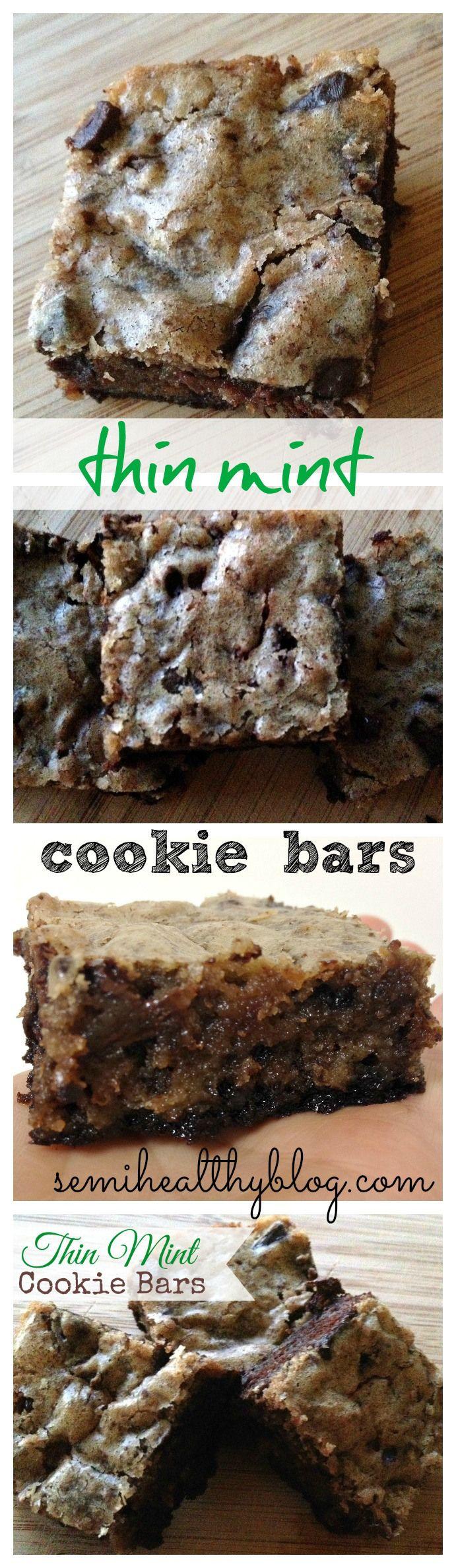 thin mint cookie bars yum via @semihealthnut at semihealthyblog