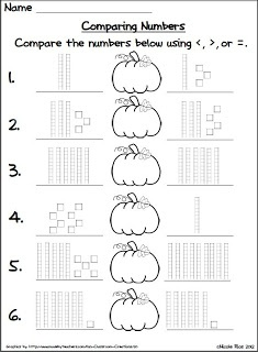 Classroom Freebies Too: Halloween Comparing Numbers