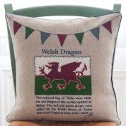 Welsh Dragon Heritage Cushion - £77.00
