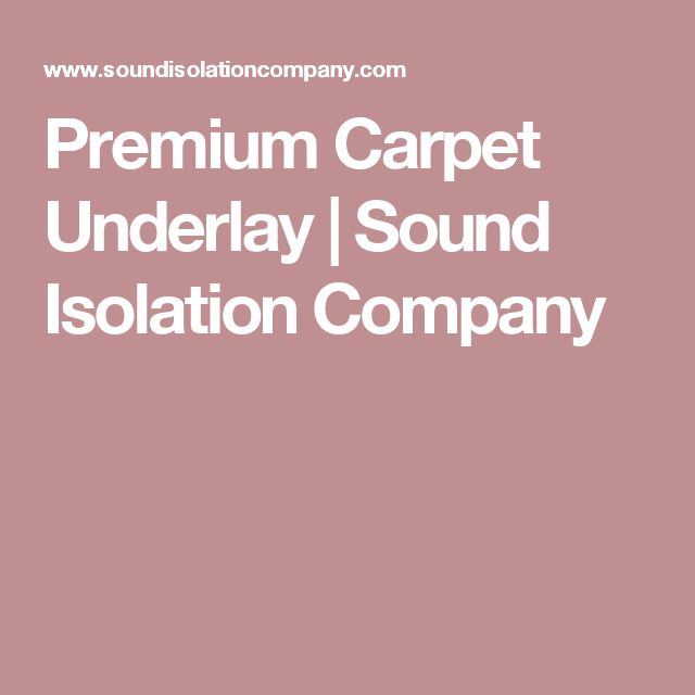carpet underlay screwfix. premium carpet underlay | sound isolation company screwfix