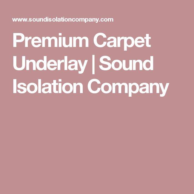 Premium Carpet Underlay | Sound Isolation Company